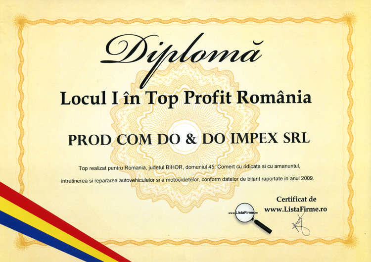 Top Profit Romania 2009