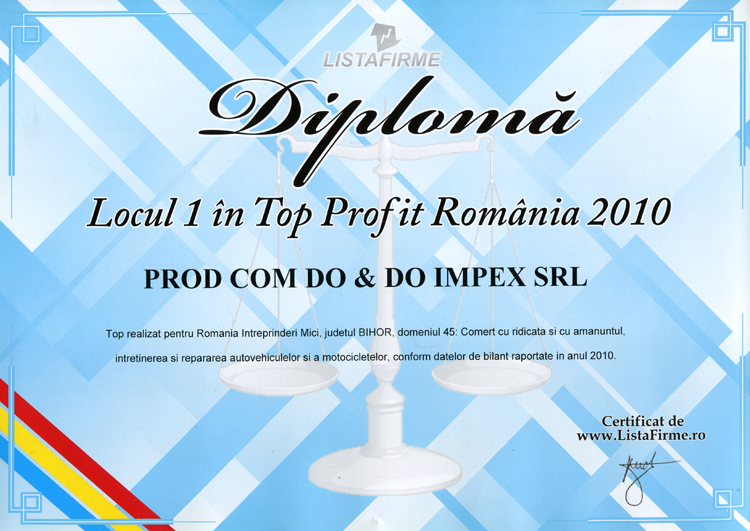 Top Profit Romania 2010